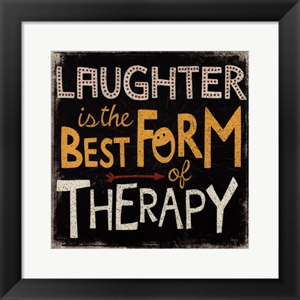 Framed laughter Print