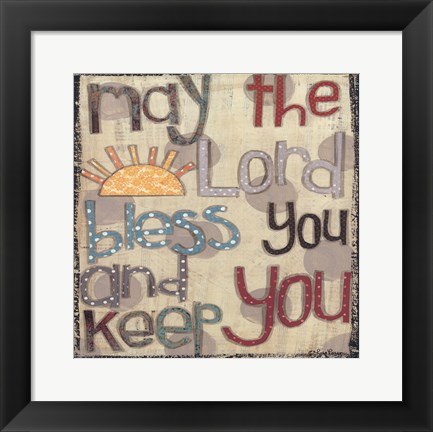 Framed Bless You and Keep You Print
