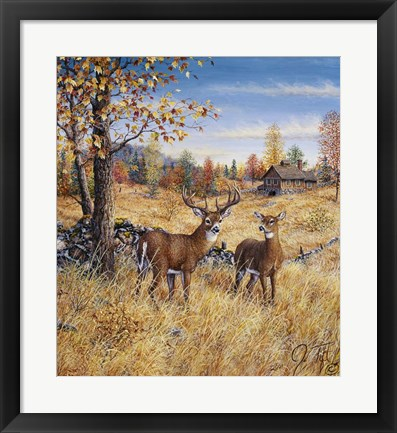 Framed Colors Of Autumn Print