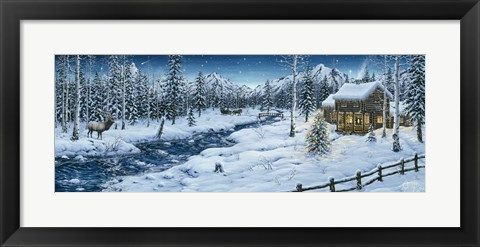 Framed Mountain Holiday Print