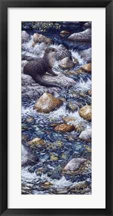 Framed River Otter 2 Print