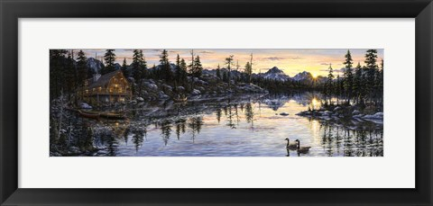 Framed Evening Sunset Print