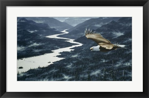 Framed On The Silent Wings Of Freedom Print