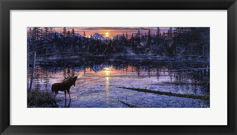 Framed Moose Lake Print