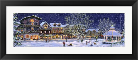 Framed Hometown Holiday Print
