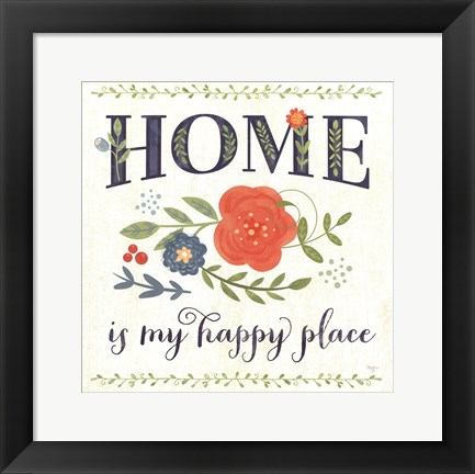 Framed Happy Home Print