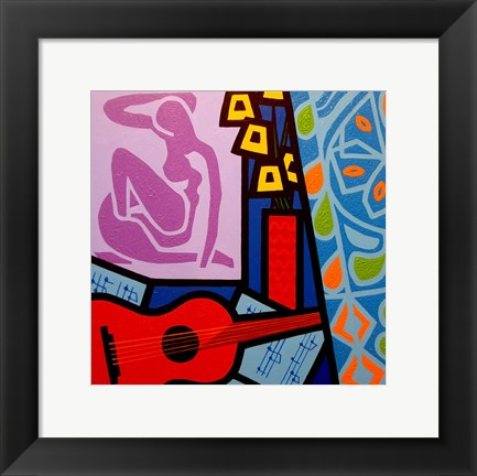 Framed Homage To Matisse 11 Print