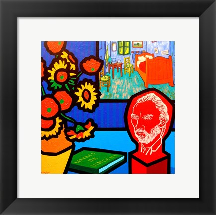 Framed Homage To Van Gogh 3 Print