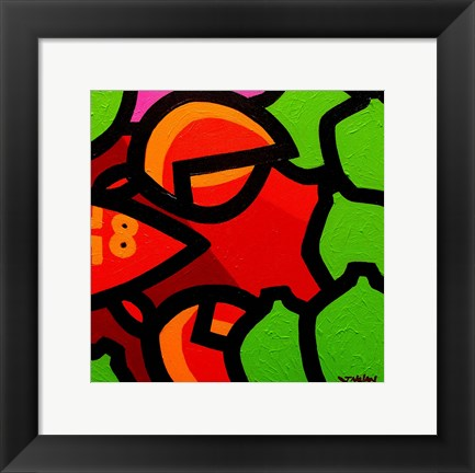Framed Lobster And Seven Limes Print