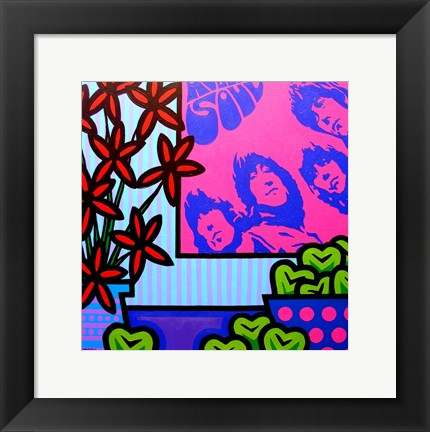 Framed Stil Llife With The Beatles Print