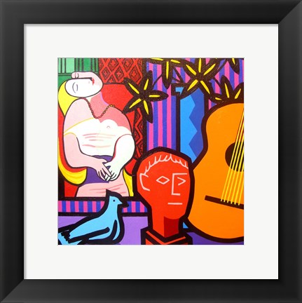 Framed Still Life With Picassos Dream Print