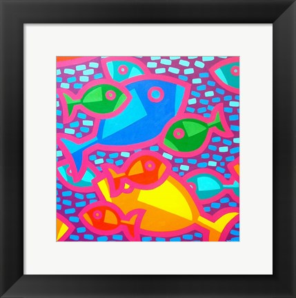 Framed Funky Fish Print