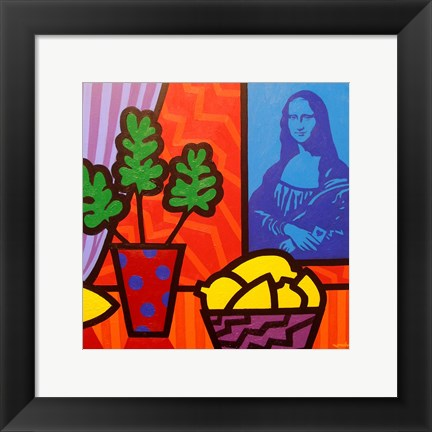 Framed Still Life With Matisse and Mona Lisa Print
