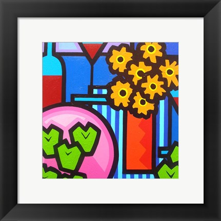 Framed Still Life With Seven Apples Print