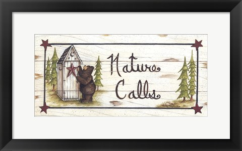 Framed Nature Calls Print