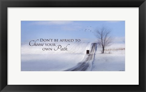 Framed Choose Your Own Path Print