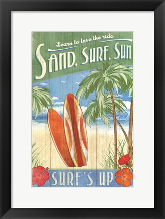 Framed Surf's Up Print