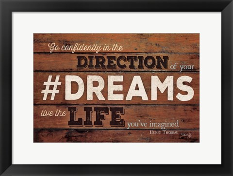Framed #DREAMS - Live the Life Print