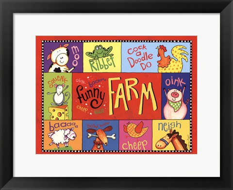 Framed Funny Farm Print