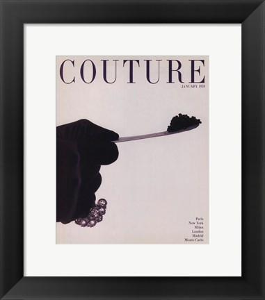 Framed Couture January 1959 Print