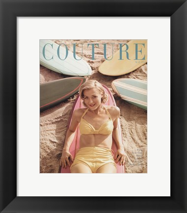 Framed Couture May 1951 Print