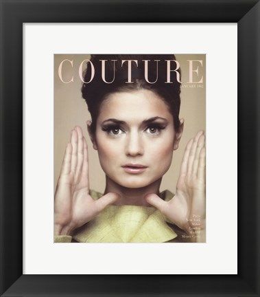 Framed Couture January 1962 Print