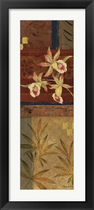 Framed Martinque Orchids II Print
