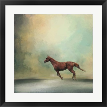 Framed Arabian Run Print