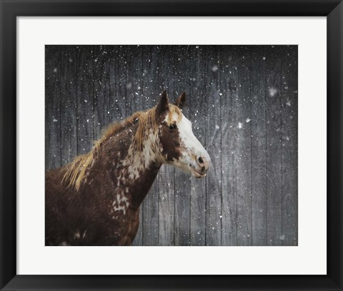 Framed Winters Arrival Horse Print