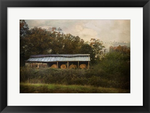 Framed Barn For The Hay Print
