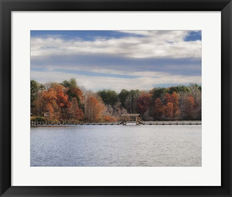 Framed Autumn At Chickasaw Print