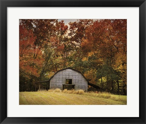Framed Autumn Barn Print