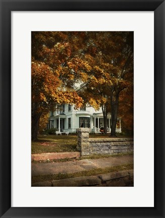 Framed Diamond In Autumn Print