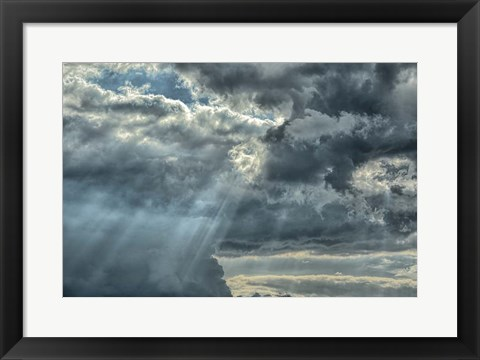 Framed Rays From Heaven Print