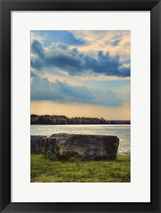 Framed River Rock Print