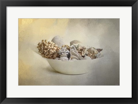 Framed Bowl Of Holiday Bounty Print