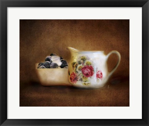 Framed Blueberries And Cream Print
