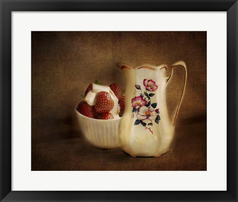 Framed Strawberries And Cream Print