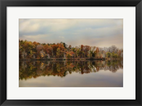 Framed Autumn At Lake LaJoie 2 Print