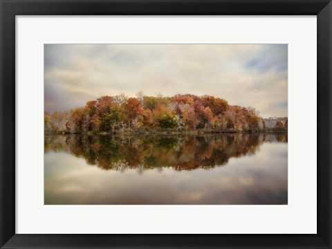 Framed Autumn At Lake LaJoie 4 Print