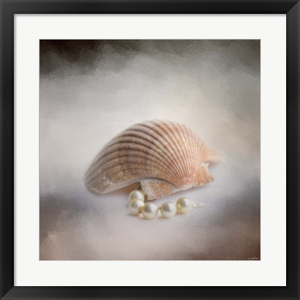 Framed Sea Shell and Pearls Print