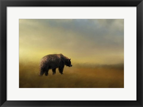 Framed Where The Grizzly Roams Print