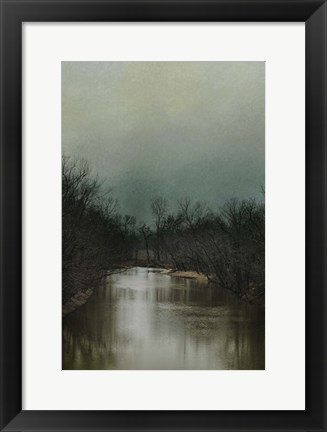 Framed Cold Day At The River Print