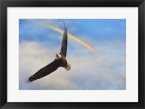 Framed When My Wings Touch The Rainbow Print