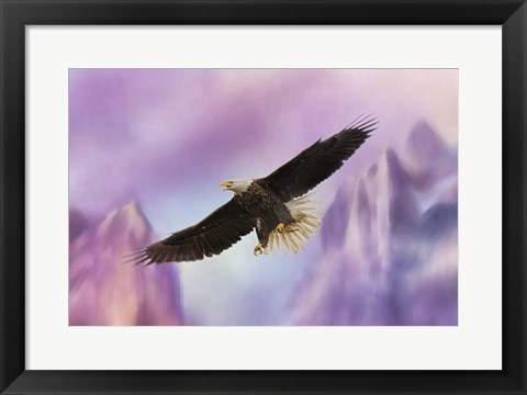 Framed Over The Purple Mountains Print