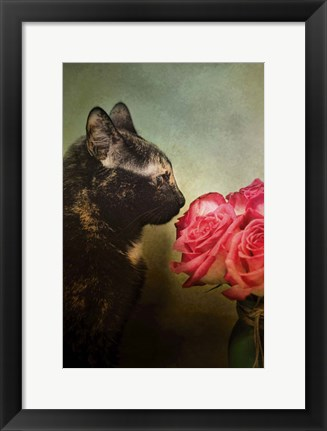 Framed Stop And Smell The Flowers Print