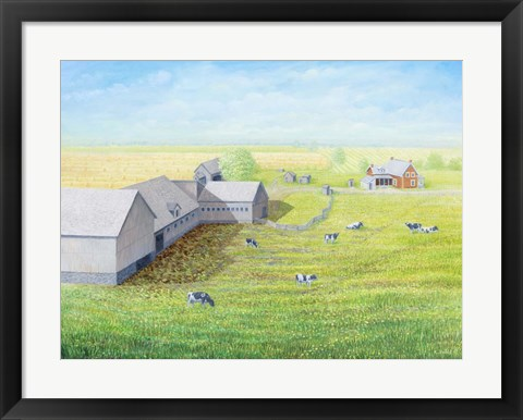 Framed Emerald Acres Print