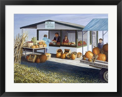 Framed Joe's Vegetable Stand Print