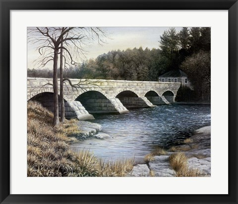 Framed Pakenham Bridge Print