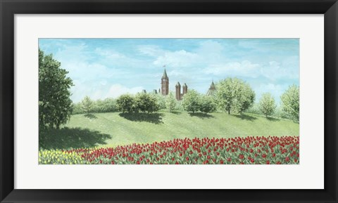 Framed Parliament Building and Tulips - Ottawa Print